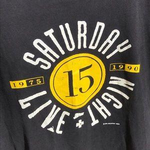 SNL Shirts - Vtg '90 Saturday Night Live 15th Anniversary Tee
